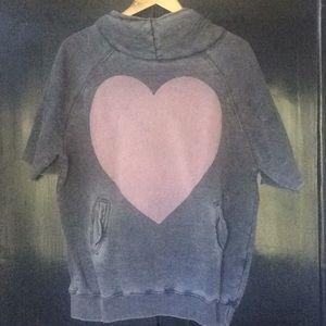 Wildfox Grey Heart Hangover Hoodie